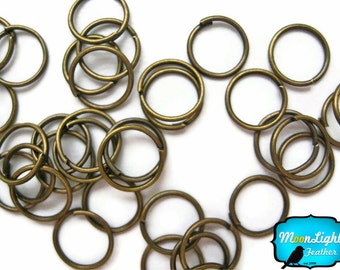 Jewelry Finding, 50 Pieces - Antique Gold Plated Jump Rings 7mm : 284