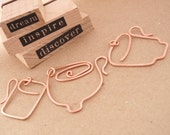 Hand Forged Copper Coffee Mug or Tea Cup Trio Pendants, Charms or Embellishments