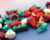 Colorful Wire Wrapped Beads