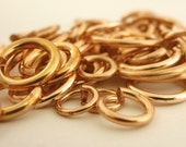 SALE Sample Pack 100 Solid Bronze Jump Rings - Great Selection of Sizes and Gauges