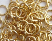 SALE 100 Gold Colored Jump Rings 20 gauge 3 mm ID - Perfect for Chainmaille and Linking Small Charms
