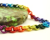 Rainbow Chainmaille Bracelet KIT - Perfect for Beginners - Fun For Experienced Jewelry Makers