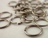 SALE 100 Hypoallergenic Solid Titanium Jump Rings  in 18, 20 or 22 Gauge, You Pick the Size