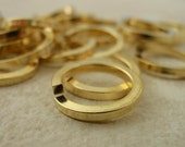 50 Solid Brass Jump Rings  - Handmade From 20 Gauge Square Wire - You Pick Size