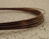 20 gauge Vintage Bronze Anodized Niobium Wire - 1 Foot -  Hypo Allergenic 100% Guarantee