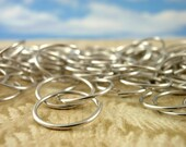 200 Silver Aluminum Jump Rings - 18 gauge 12mm ID Top Shelf - Hand Crafted