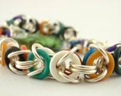 Multi Colored Byzantine NECKLACE Kit - Custom Chainmaille - Rubber and Aluminum - Fun and Easy