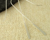 1 Pair Sterling Silver Paddle Ear Wires - Easy Peasy - Just Add a Bead