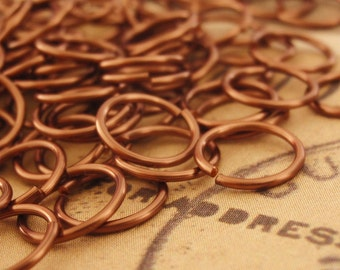 100 Antique Copper Jump Rings - Handmade For You