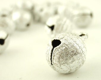 25 Stardust Textured Bells 12mm - These Make NoIsE - Silver Tone, Gold Tone or Color Mix