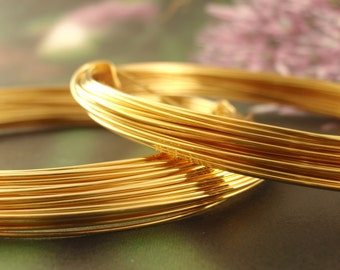 24kt Gold Plated Wire with Copper Core - Half Hard - You Pick Gauge 18, 20, 22, 26 - 100% Guarantee