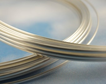 Premium 1/2 ROUND Non Tarnish Silver Plate Wire - Half Hard - You Pick Gauge 18, 20, 21, 22 - 100% Guarantee