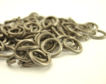 100 Matte Finish Stainless Steel Jump Rings - 18, 20 or 22 Gauge - You Choose Diameter - Top Shelf - Saw Cut