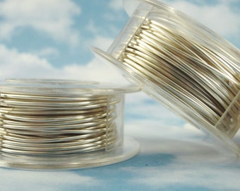 Non Tarnish Silver Plated Wire Sample - You Pick Gauge  18, 20, 22, 24, 26, 28, 30, 32 or 34  -  100% Guarantee