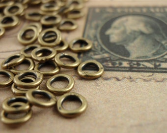 Small Soldered Closed Jump Rings - 20 gauge 4mm OD - Antique Gold, Gunmetal, Copper, Silver Plate or Gold Plate -100% Guarantee