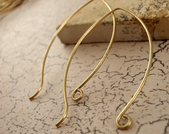 1 Pair Handmade Large Balloon Style Ear Wires - Brass, Bronze, Copper, Stainless Steel