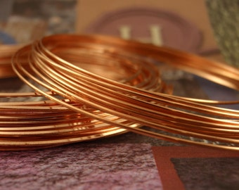 SALE Premium 21 gauge HALF ROUND Half Hard Copper Wire - Non Tarnish - 100% Guarantee