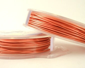 Peach Artistic Wire - Permanently colored - You Pick Gauge 18, 20, 22, 24, 26, 28 - 100% Guarantee