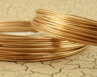 Round Solid Bronze Wire - 100% Guarantee - 10, 11, 12, 14, 16, 18, 20, 22, 24, 26, 28 gauge - Made in the USA