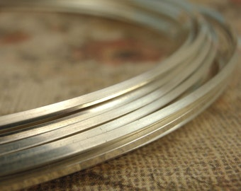 SQUARE Silver Filled Wire - 1/2 Troy Ounce - You Choose Gauge and Temper - 10% Silver Bonded to White Brass