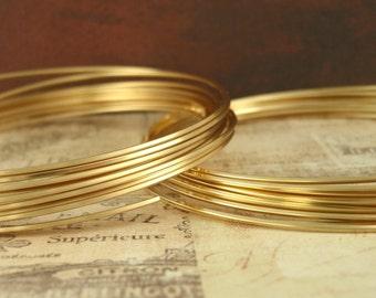Premium Non Tarnish Brass Wire - SQUARE - Half Hard - You Pick Gauge 18, 20, 21, 22, 24 - 100% Guarantee
