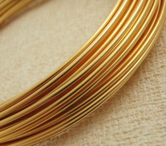 15 Feet Gold Colored Enameled Coated Copper Wire 4.6 Meters 16 gauge