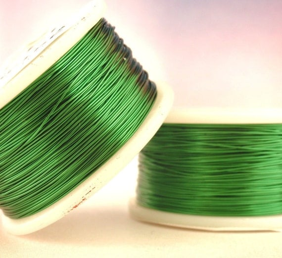 28 gauge Green Wire - Small Coil - 120 Feet - Enameled Coated Copper - 100% Guarantee - 36.6 Meters