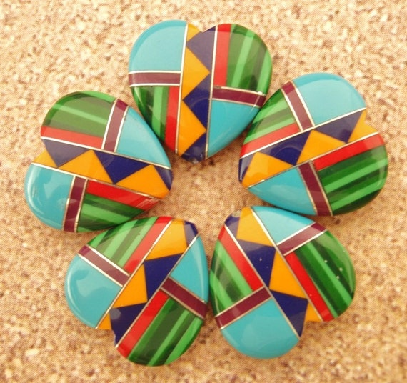 5 South West Heart Beads - 15mm - Intarcia Style