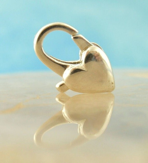 1 Sterling Silver Heart and Arch Lobster Clasp - Shiny or Antique - Best Commercially Made - You pick size! - 100% Guarantee