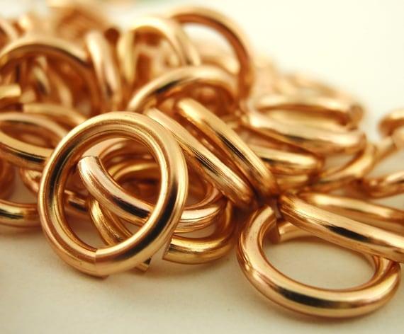 Spring SALE - 100 Shiny Copper OR Antique Copper Colored Aluminum Jump Rings 14 gauge 10mm OD Economical