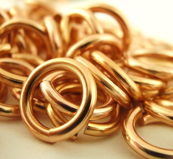 Spring SALE - 100 Copper Colored Aluminum Jump Rings 12 gauge 12mm OD Economical