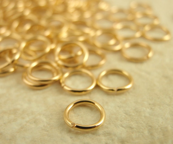100 Gold Plated Jump Rings 22 gauge 5 mm OD - Best Commercially Made