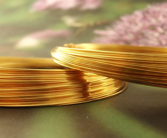 Premium 24kt Gold Plate Wire with Copper Core - Half Hard - You Pick FOUR - 100% Guarantee