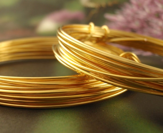 Wire - 18 gauge 24 kt Gold Plate with Copper Core - Half Hard - 13 Feet - 4 Meters 100% Guarantee