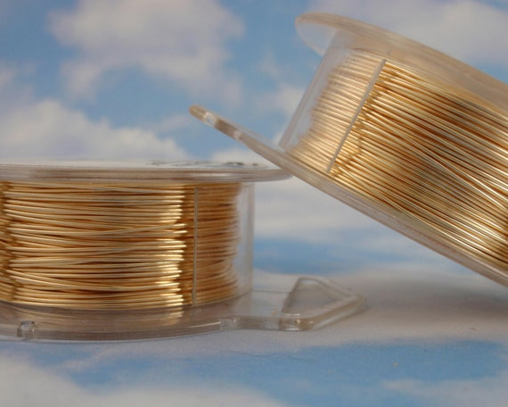 Half Price Summer Sale 24 gauge Gold Colored Wire - Non Tarnish - 100 Feet - 31 Meters - Enameled Coated Copper 100% Guarantee