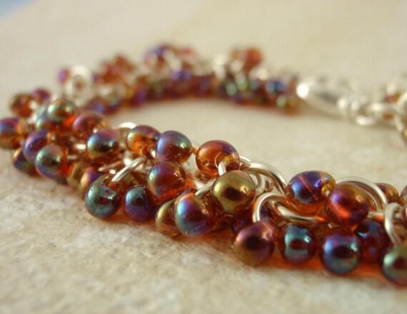 Spring SALE - Shaggy Beaded Bracelet Kit - Autumn Hues - Custom Colors - Beginners or More Advanced