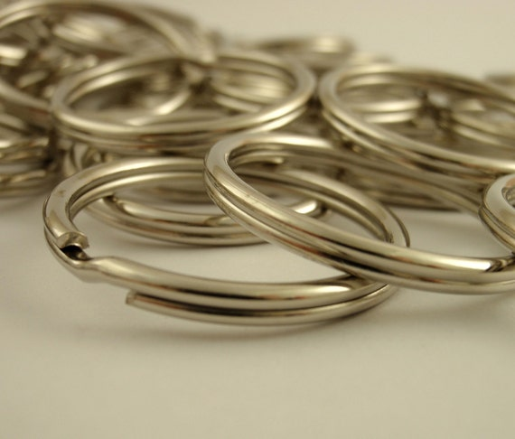 SALE 100 Nickel Plated Split Jump Rings - Really Extra Large 28mm OD
