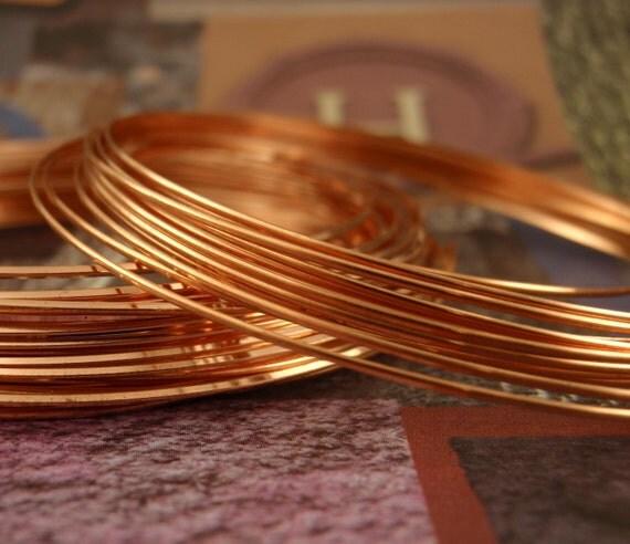 SALE Premium 21 gauge HALF ROUND Half Hard Copper Wire - Non Tarnish - 100% Guarantee
