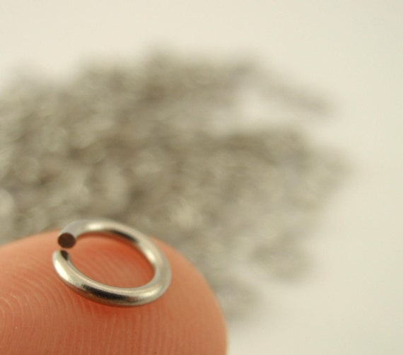 RESERVED 500 Stainless Steel Jump Rings 18 gauge 8 mm OD