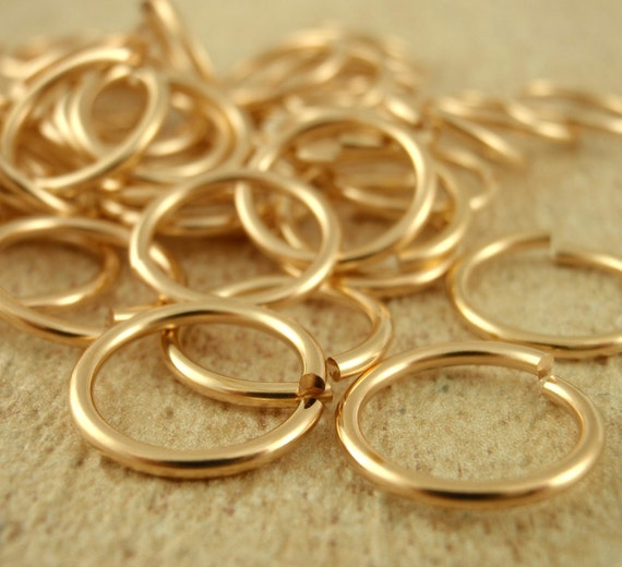 SALE 50 Rich Low Brass Jump Rings 16 gauge 10mm ID - Saw Cut for Smooth Joints