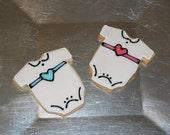 Baby Shower Onesie Hand Decorated Sugar Cookies - 1 Dozen