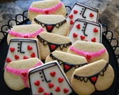 Gstring and Boxers Hand Decorated Iced Sugar Cookie Set - 1 Dozen