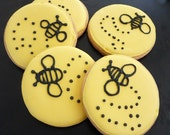 Busy Bee Hand Decorated Iced Sugar Cookies - 1 dozen