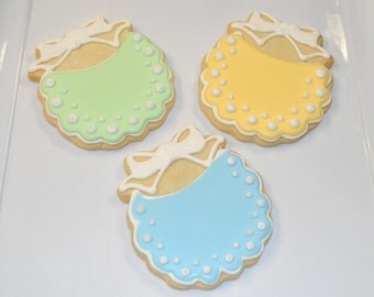Baby Shower Bibs Cookies