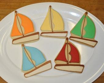 Sailboat Hand Decorated Sugar Cookies