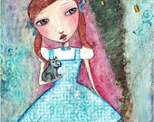 Dorothy of Oz  Large Print Original mixed media artwork