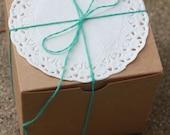 50 Kraft Gift Boxes 4x4x4