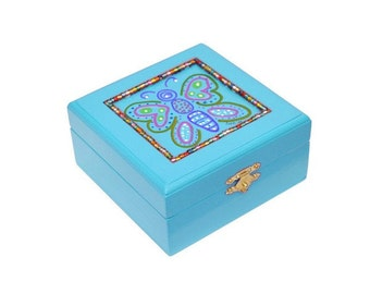 Light Blue Trinket Box