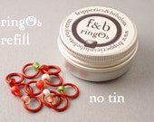 ringOs REFILL - Strawberry Fields - Snag-Free Ring Stitch Markers for Knitting