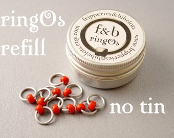 ringOs REFILL - Snow White - Snag-Free Ring Stitch Markers for Knitting